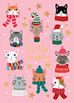 CHRISTMAS CATS - available to ship 9/1/2021.