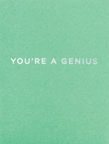 YOU'RE A GENIUS
