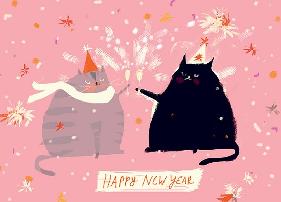 NEW YEAR CATS - available to ship 9/1/2021.